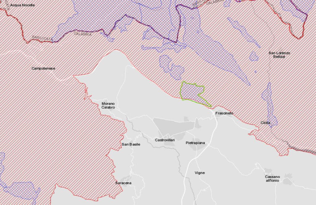 mappa_SIC_Castrovillari